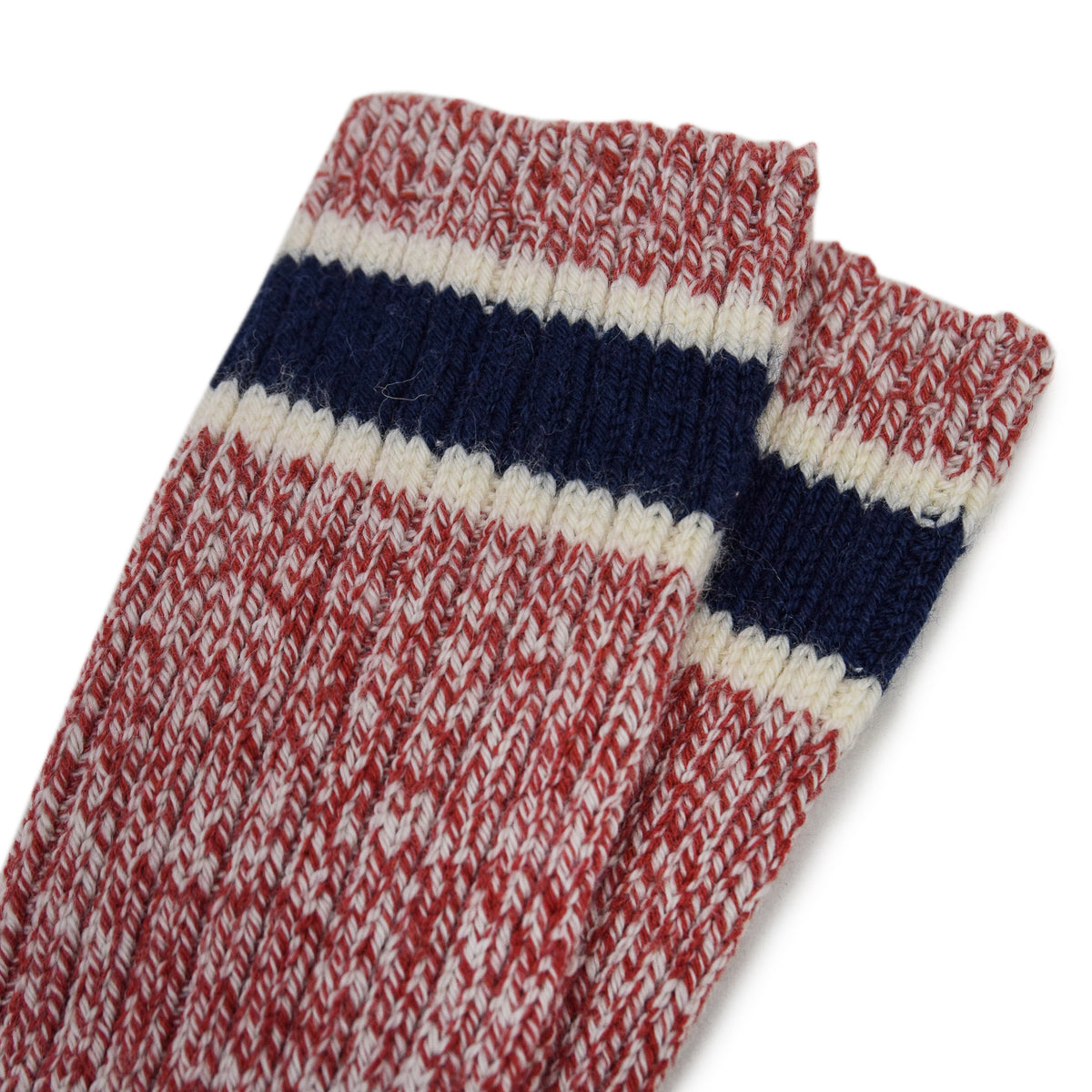 Red Wing Striped Wool Ragg Crew Socks Red stripes