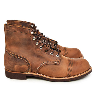 "Red Wing 8111 Heritage 6"" Iron Ranger Copper Rough & Tough Leather Boot side"