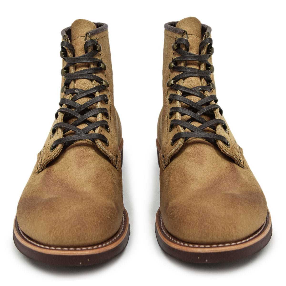 "Red Wing 3344 6"" Blacksmith Hawthorne Muleskinner Roughout Leather Boot front"