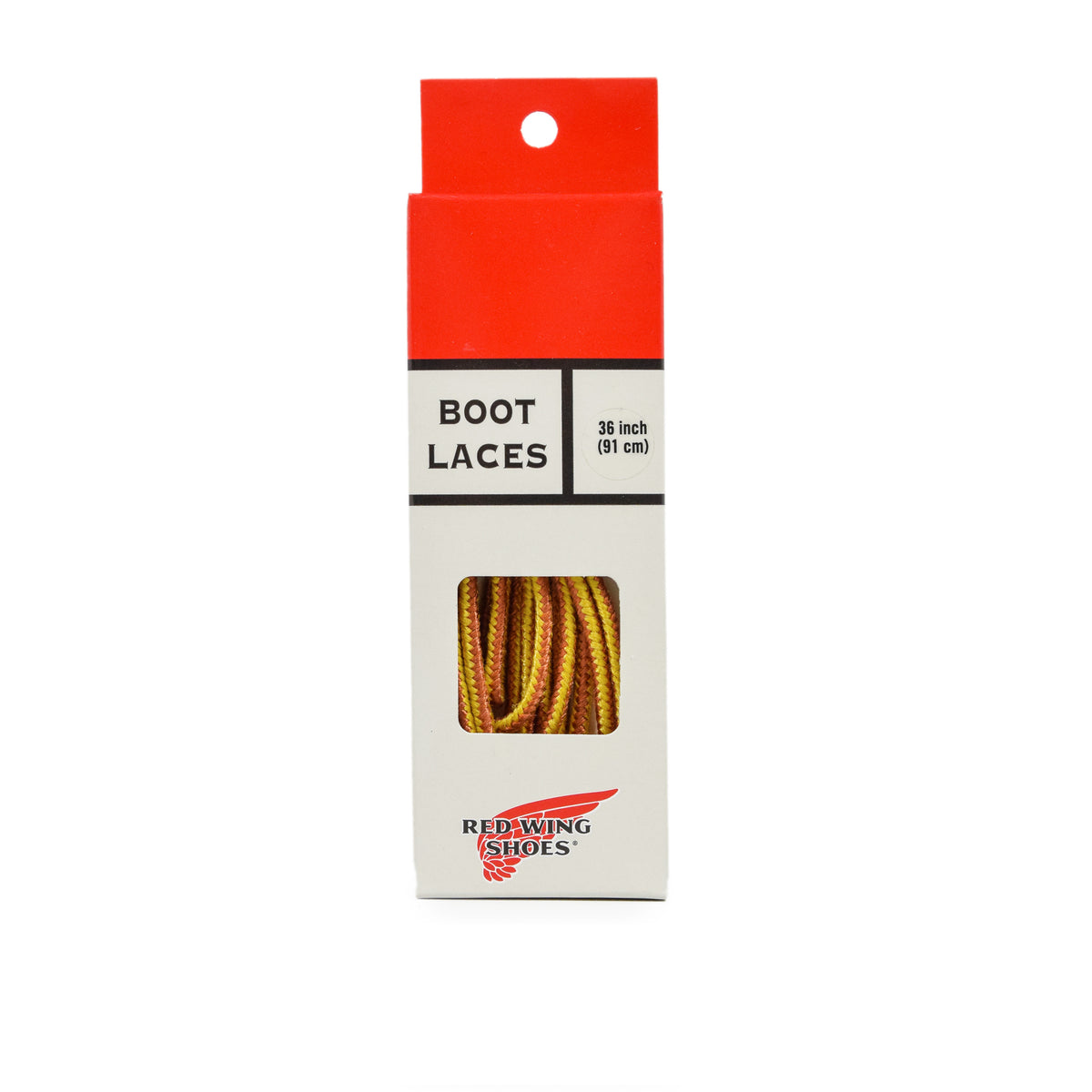 Red Wing Taslan Boot Laces Gold Tan box