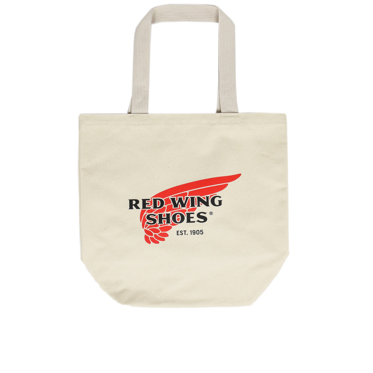 Red Wing Logo Canvas Tote Bag Made in USA front