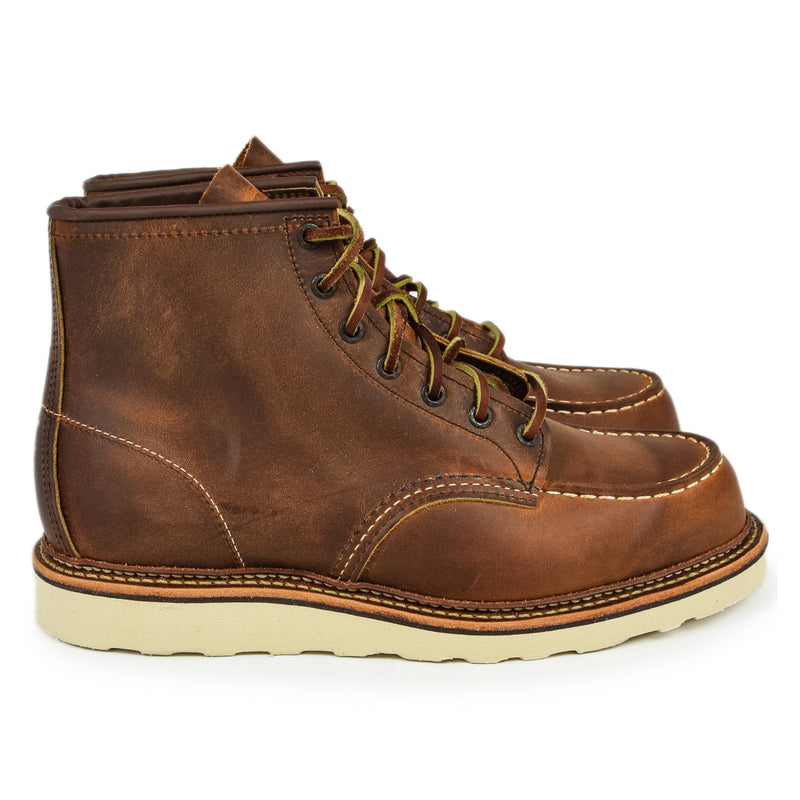 "Red Wing 1907 Classic 6"" Moc Toe Copper Rough & Tough Leather Boot"