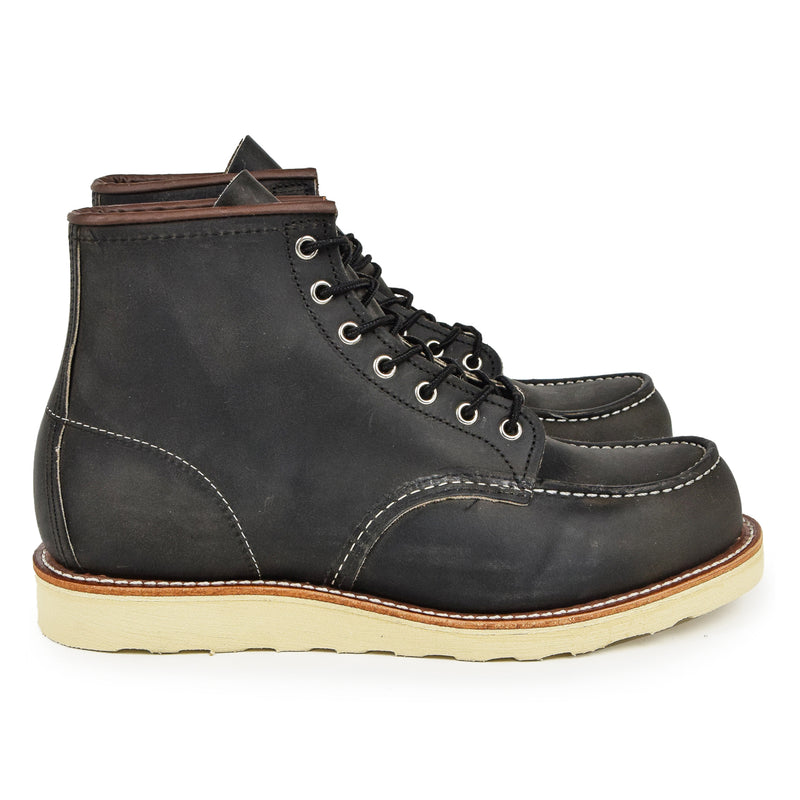 "Red Wing 8890 Classic 6"" Moc Toe Charcoal Rough & Tough Leather Boot"