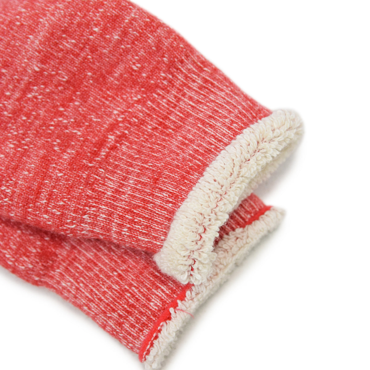 Rototo Double Faced Merino Socks Red Made In Japan Cuff