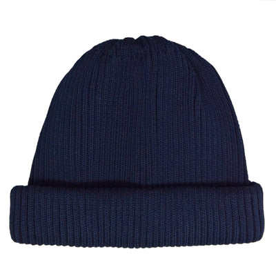 Rototo Cotton Roll Up Beanie Navy front