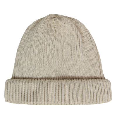 Rototo Cotton Roll Up Beanie Ivory front