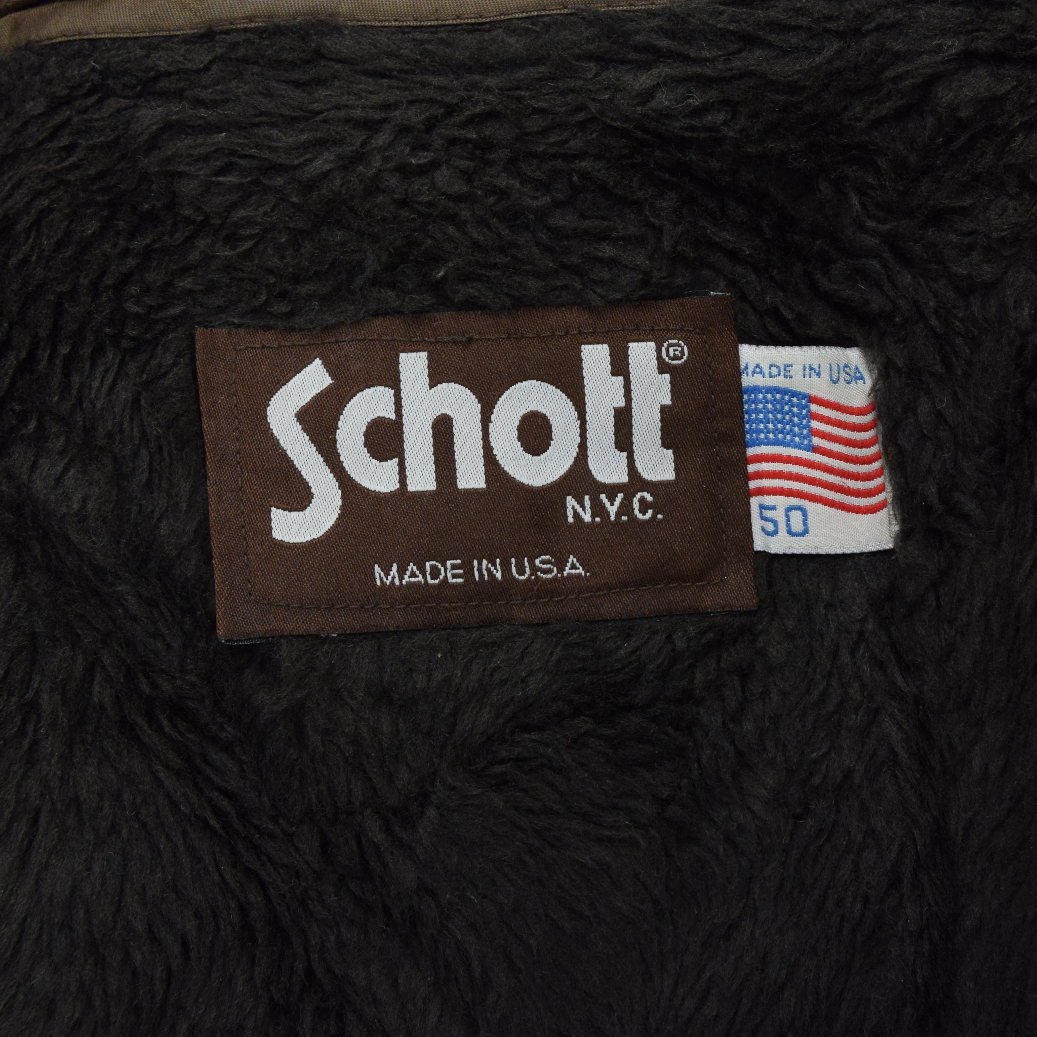 Vintage Schott A-2 Brown Cowhide Leather Flight Bomber Jacket Made in USA XXL label