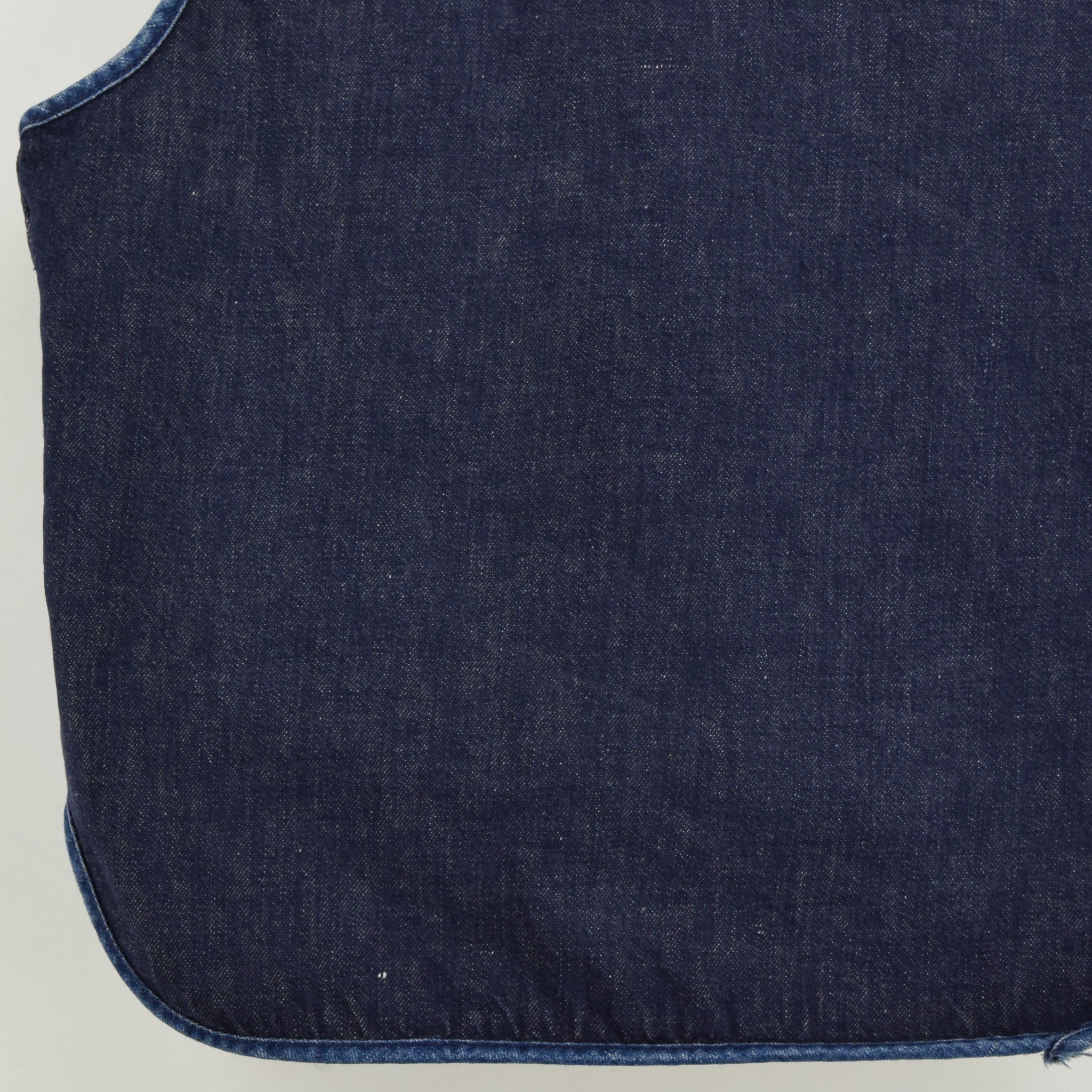 Vintage Sears Roebucks Blue Gilet Cotton Denim Waistcoat Vest Made in USA L back hem
