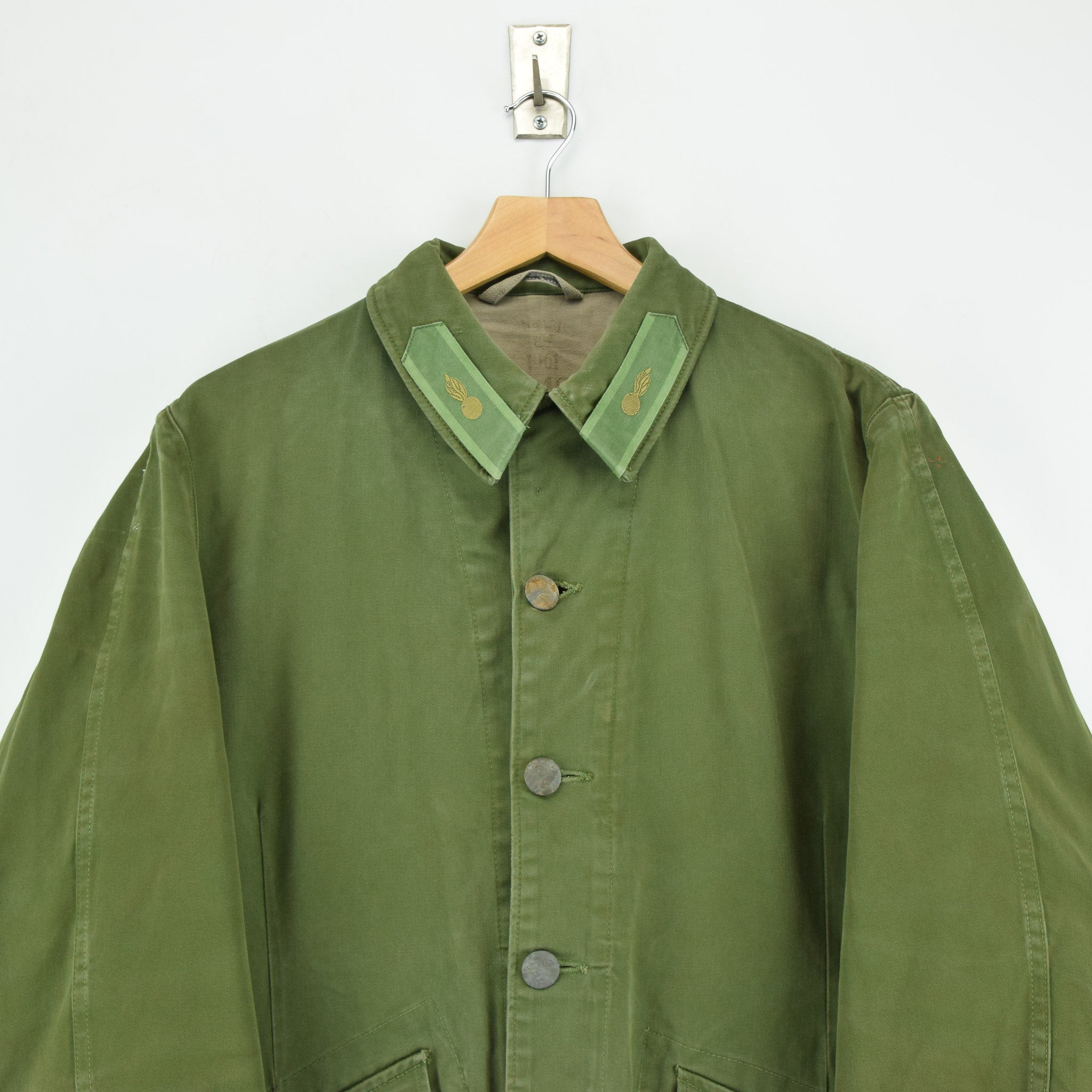 Vintage Well Worn Swedish M59 Field Military Green Worker Style Jacket M / L chest
