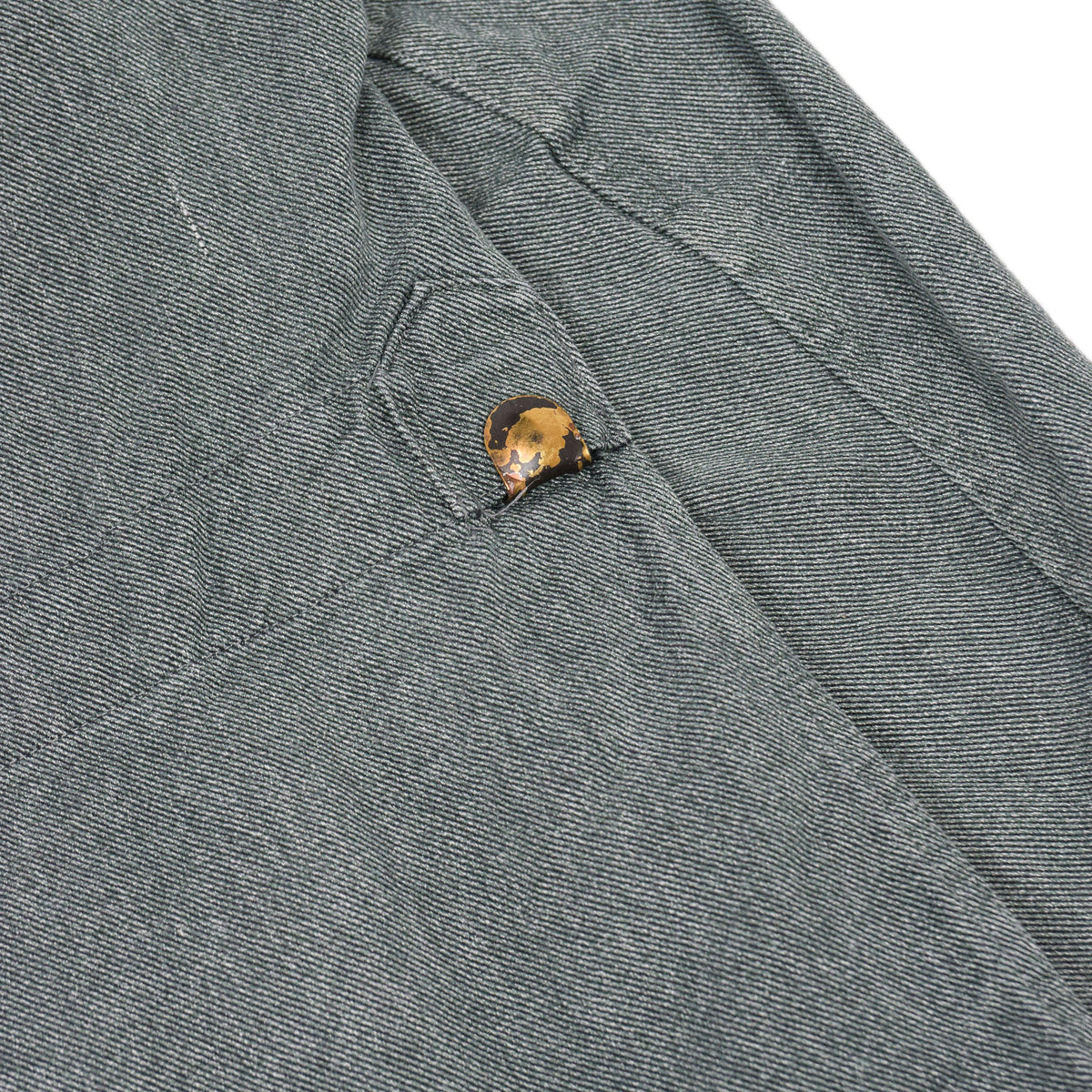 Vintage 60s Swiss Army Salt & Pepper Denim Worker Chore Jacket L back detail