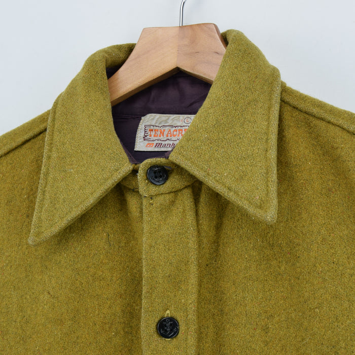 Vintage Ten Acres CPO Style Shirt Jacket Anchor Buttons M / L collar