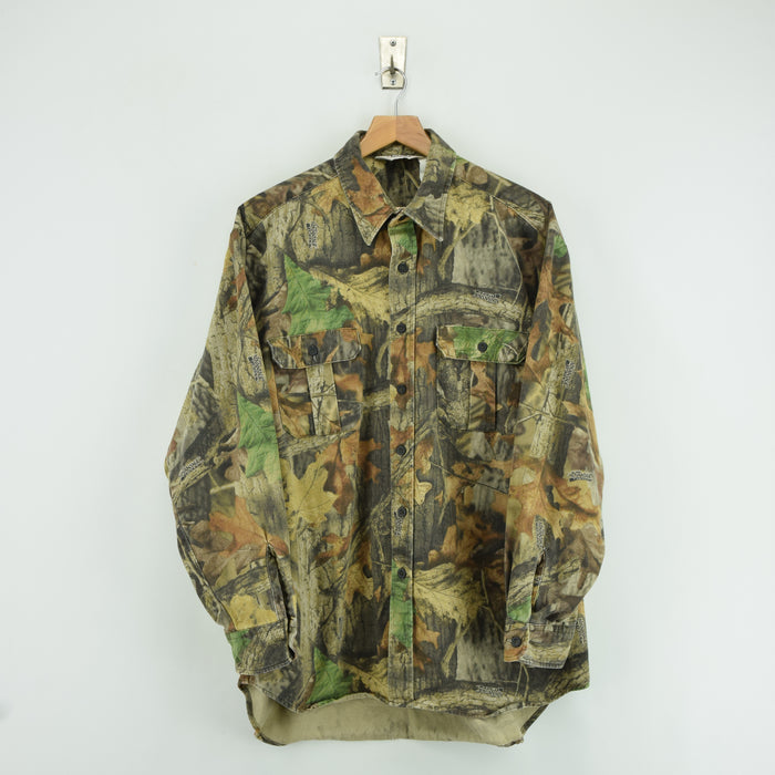 Vintage Wall's Camouflage Hunting Shooting Cotton Long Sleeve Shirt XL front