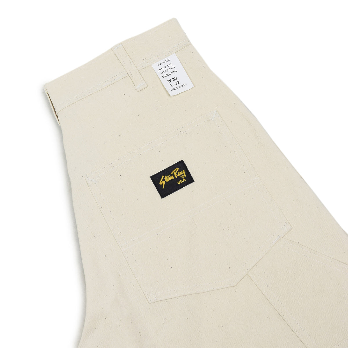 Stan Ray OG Painter Pant Natural Drill Made in USA back pocket