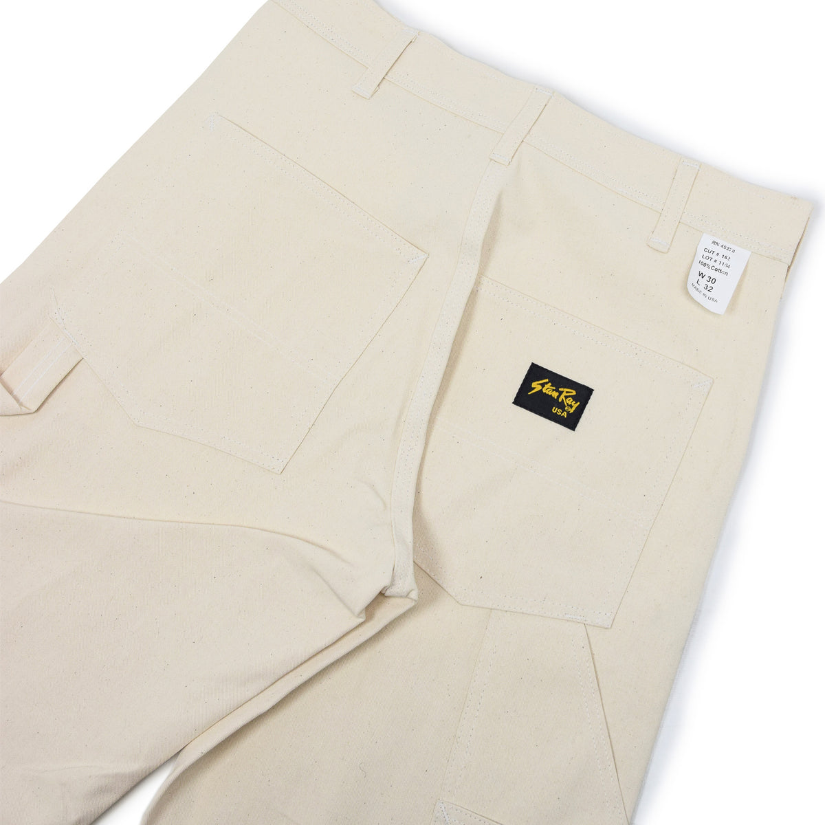 Stan Ray OG Painter Pant Natural Drill Made in USA back details