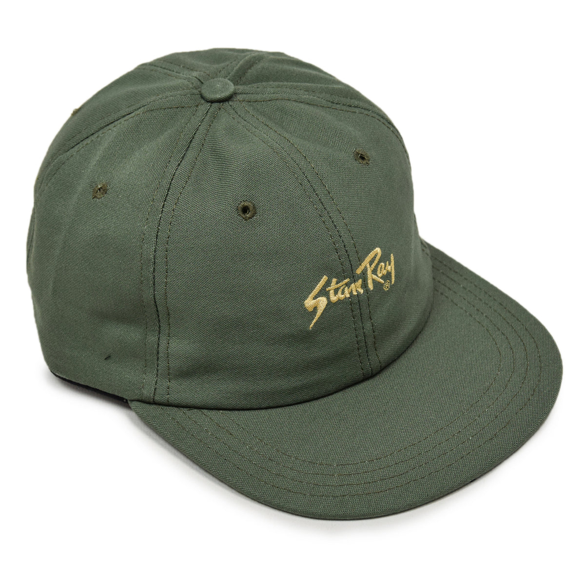 Stan Ray Ball Cap Olive Sateen Made In USA front