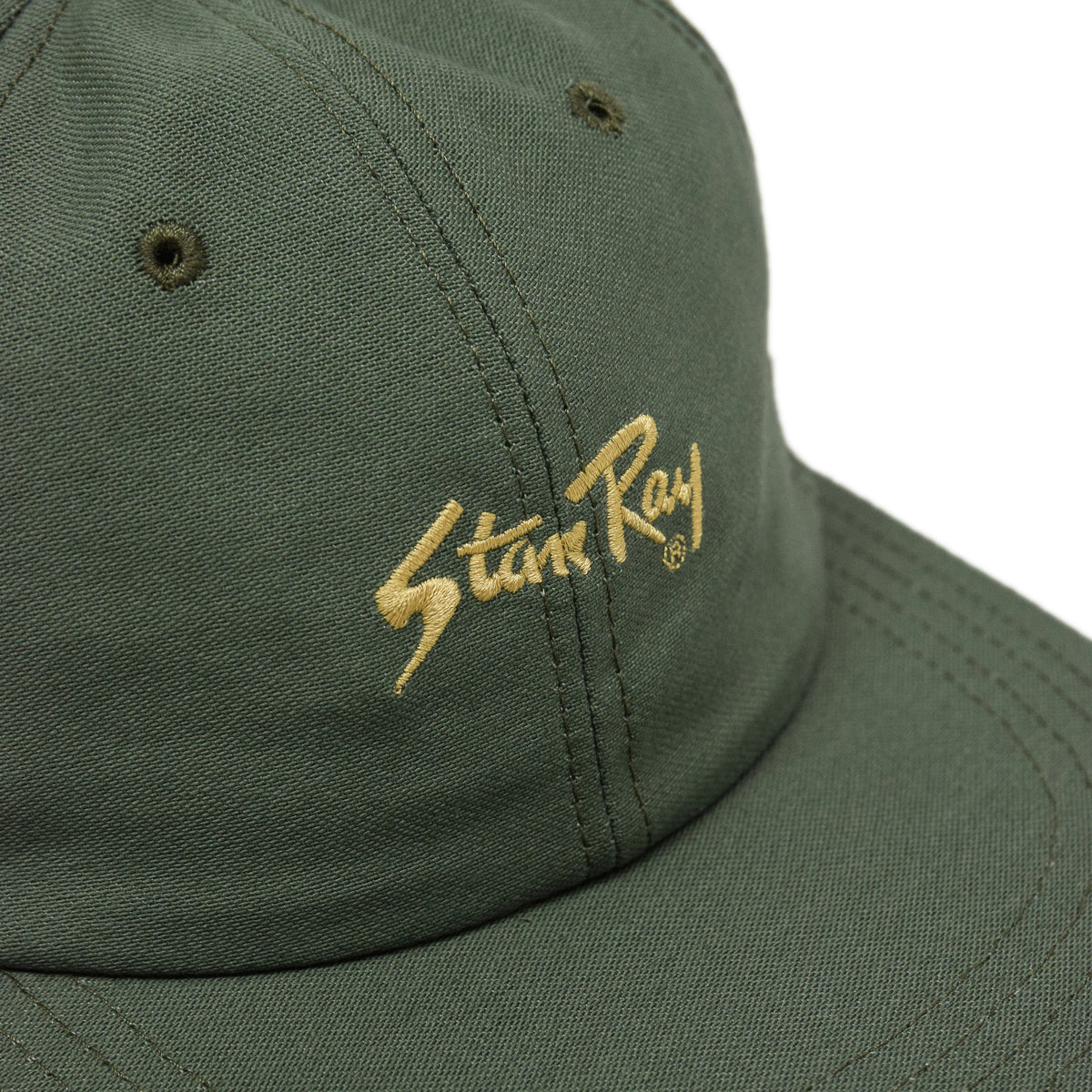 Stan Ray Ball Cap Olive Sateen Made In USA front patch