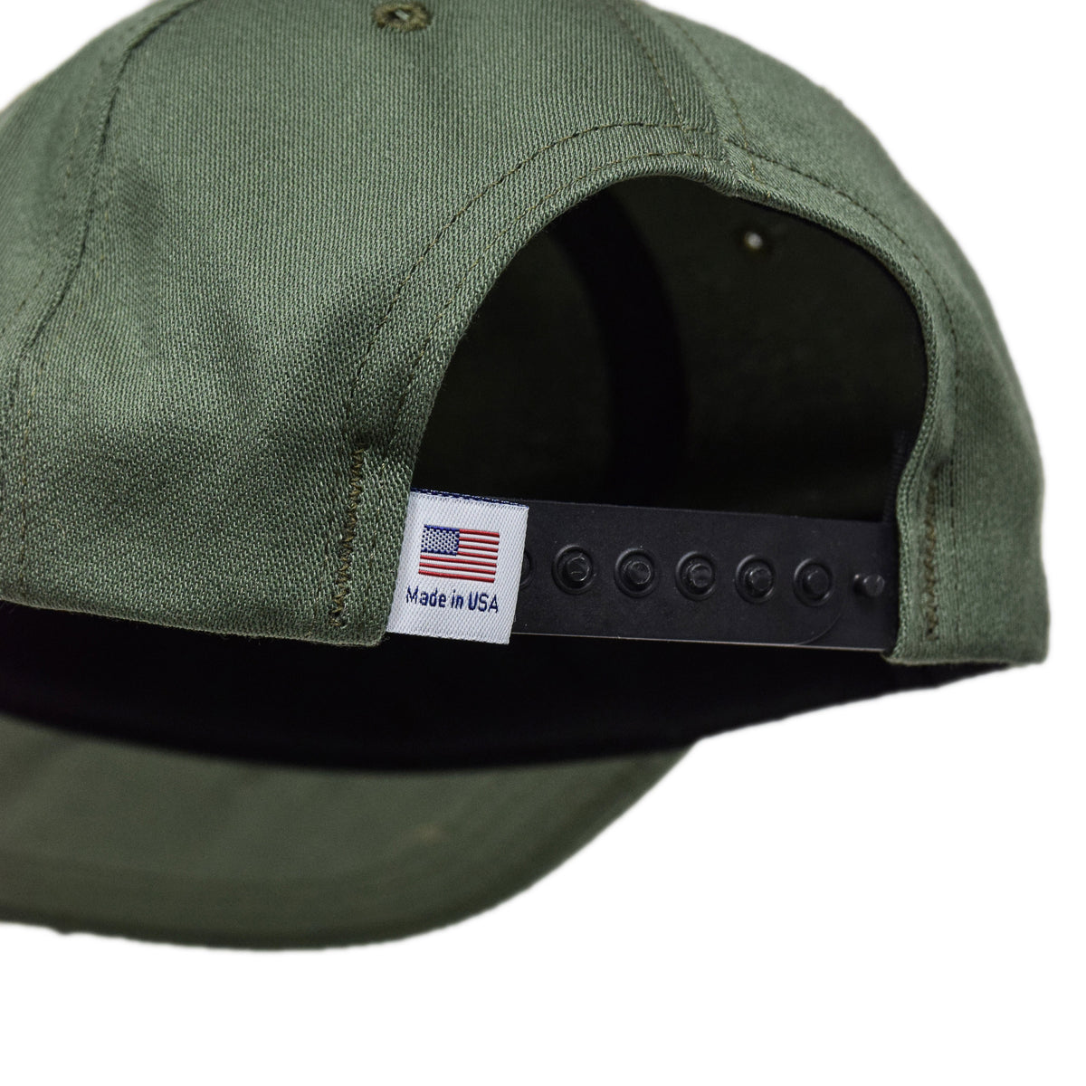 Stan Ray Ball Cap Olive Sateen Made In USA fastening