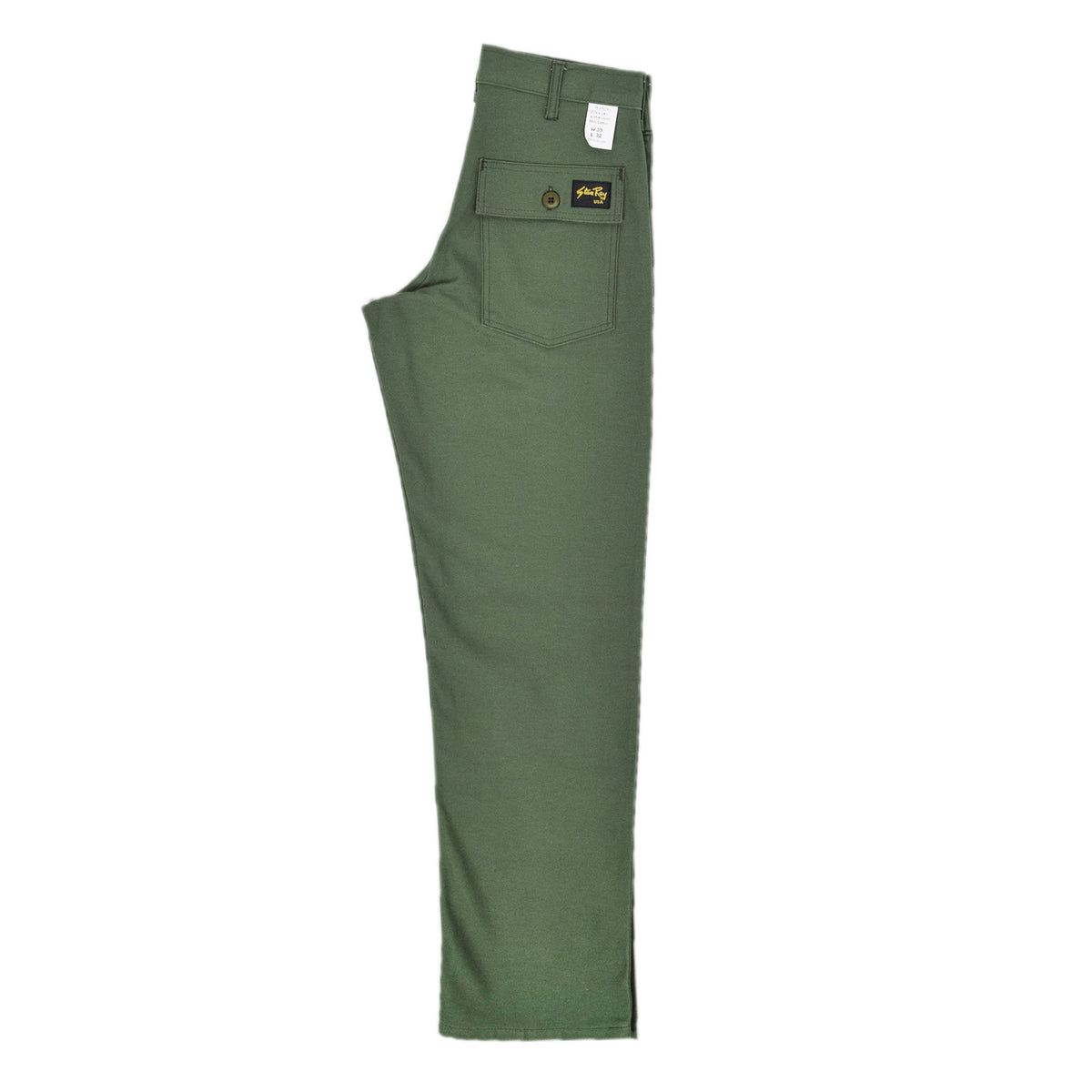 Stan Ray OG Loose Fatigue Trouser Olive Sateen Made in USA back