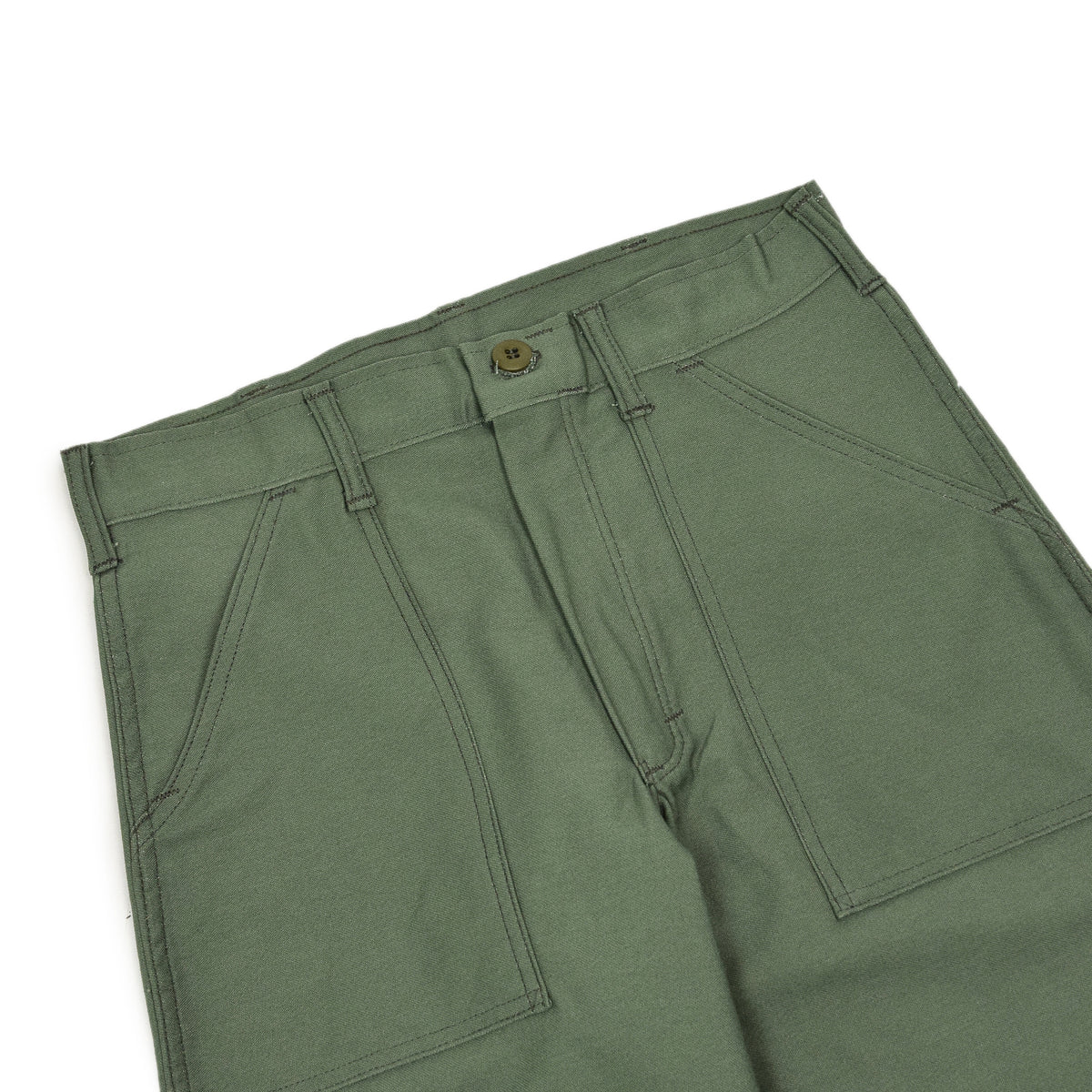 Stan Ray OG Loose Fatigue Trouser Olive Sateen Made in USA waistband