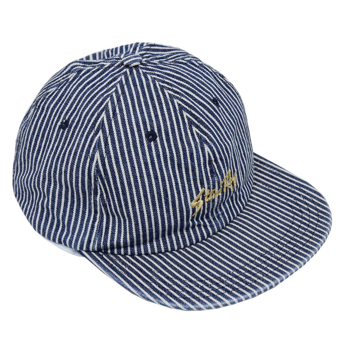 Stan Ray Ball Cap Bleached Hickory Stripe Made In USA  front