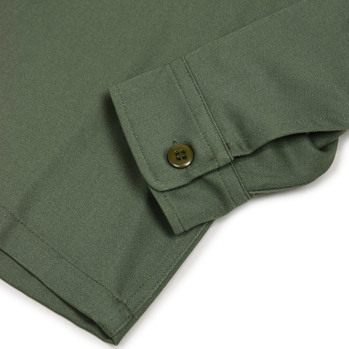 Stan Ray Olive Sateen CPO Overshirt Made In Portugal cuff