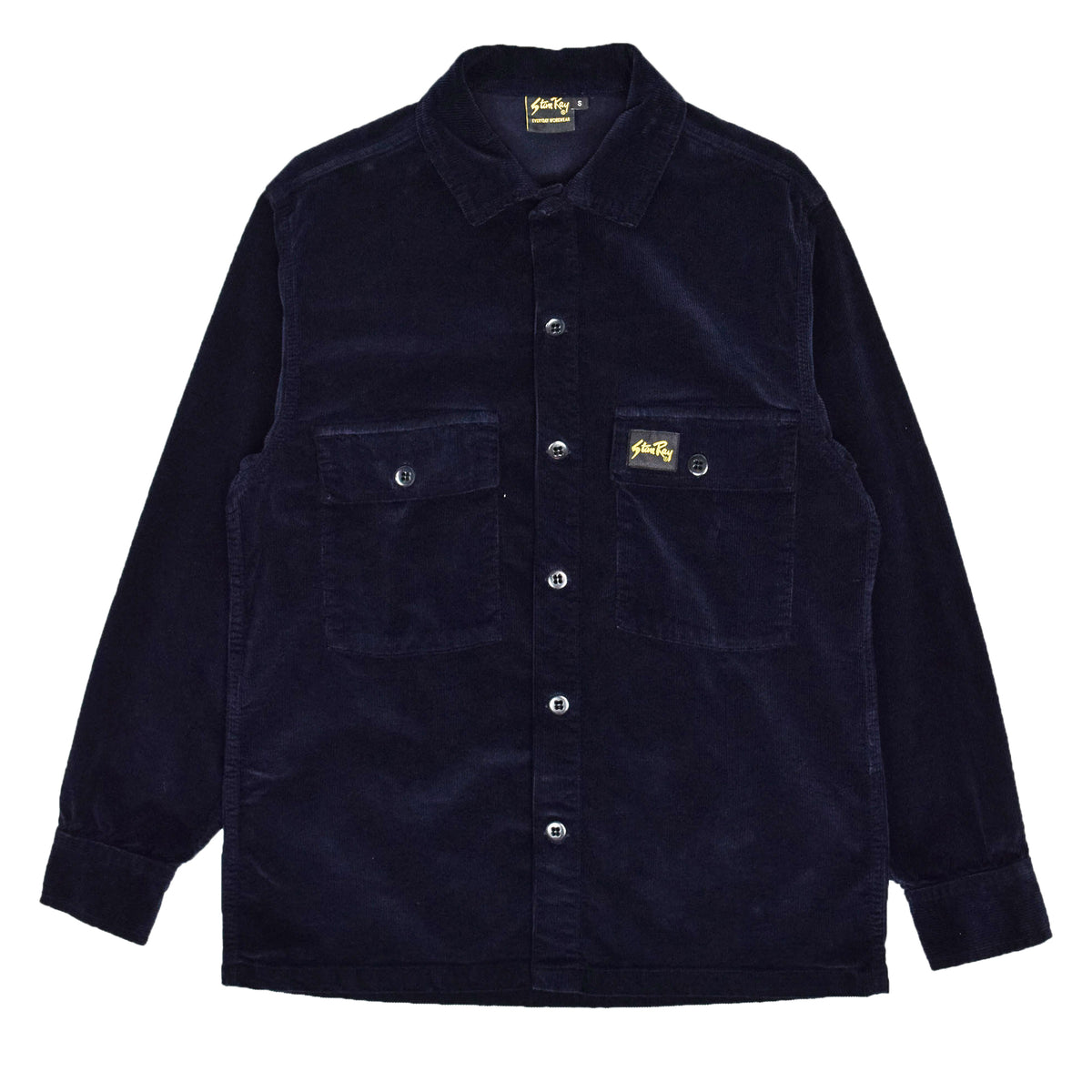 Stan Ray Navy Cord CPO Shirt front