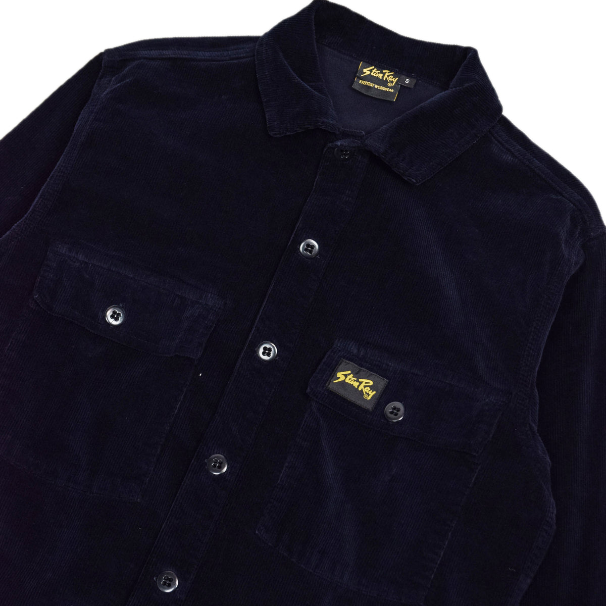 Stan Ray Navy Cord CPO Shirt chest