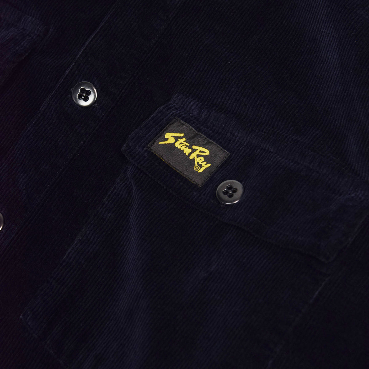 Stan Ray Navy Cord CPO Shirt chest pocket