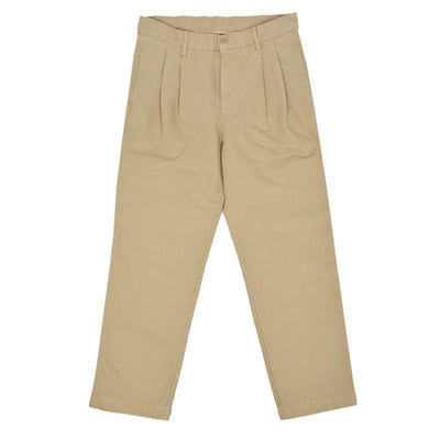 Stan Ray Double Pleated Chino Khaki Cotton Twill Trouser FRONT