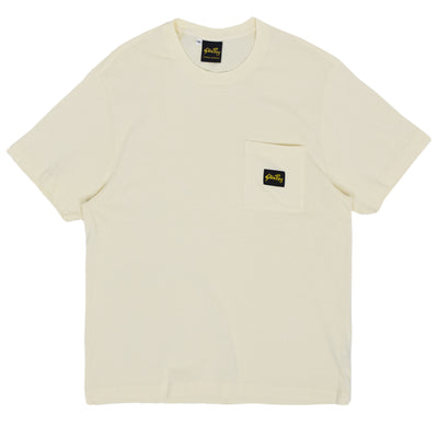 Stan Ray Patch One Pocket Cotton Tee Natural front