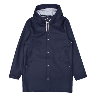 Stutterheim Stockholm Rubberised Raincoat Jacket Navy Front