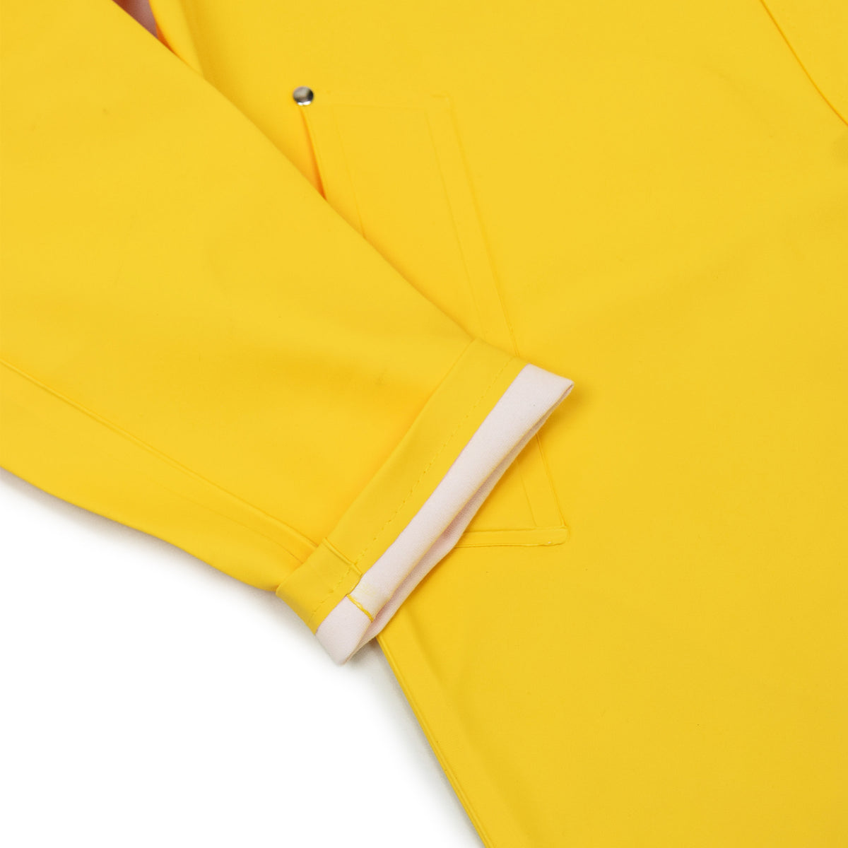 Stutterheim Stockholm Rubberised Raincoat Jacket Yellow Cuff