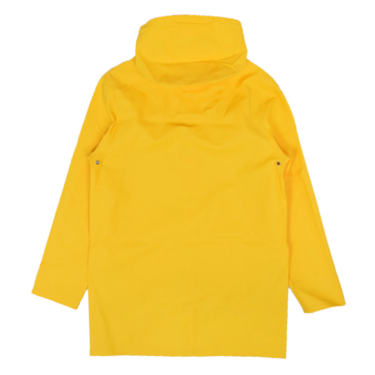 Stutterheim Stockholm Rubberised Raincoat Jacket Yellow Back
