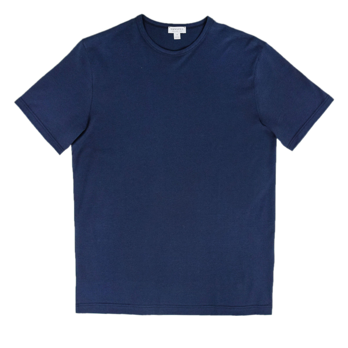 Sunspel Classic Crew T-Shirt Navy front