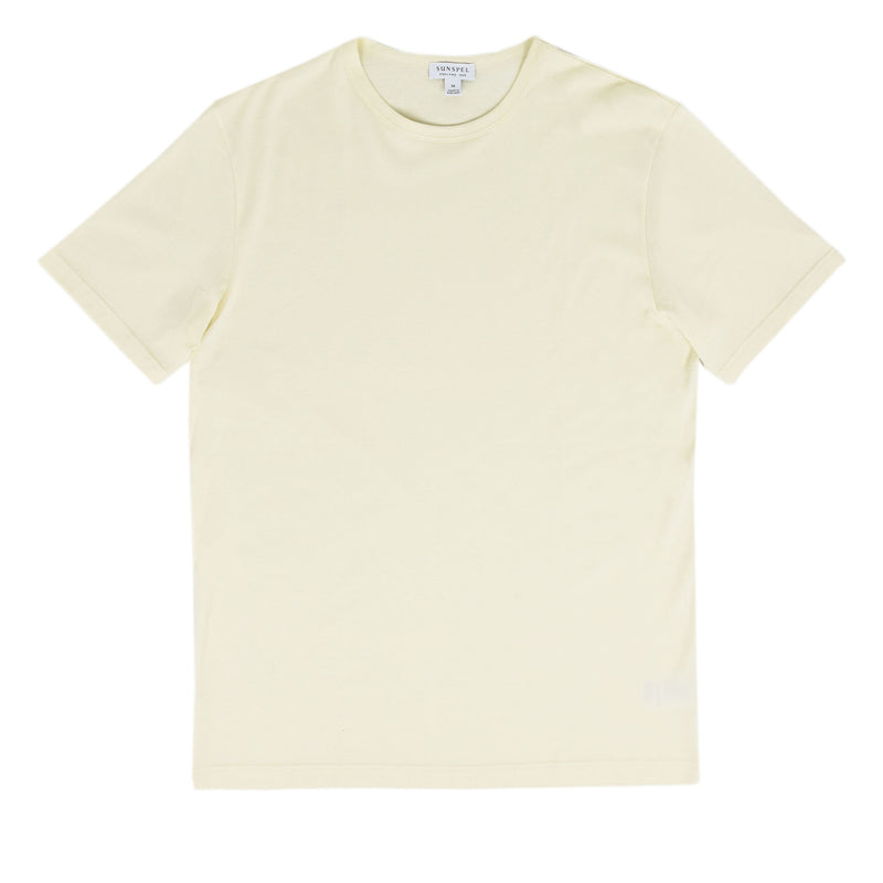 Sunspel Classic Crew T-Shirt Archive White front