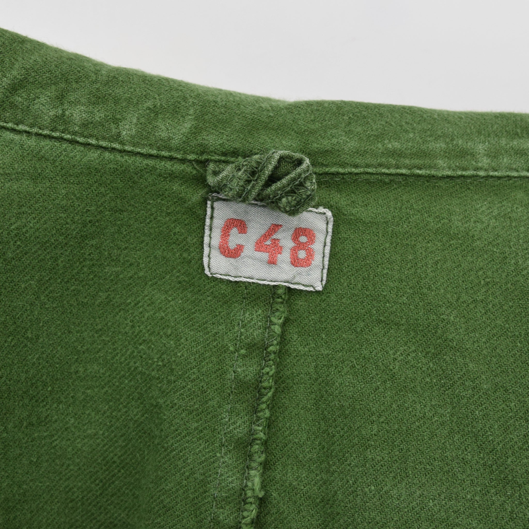 Vintage Swedish Worker Style Distressed Green Military Field Jacket M / L label