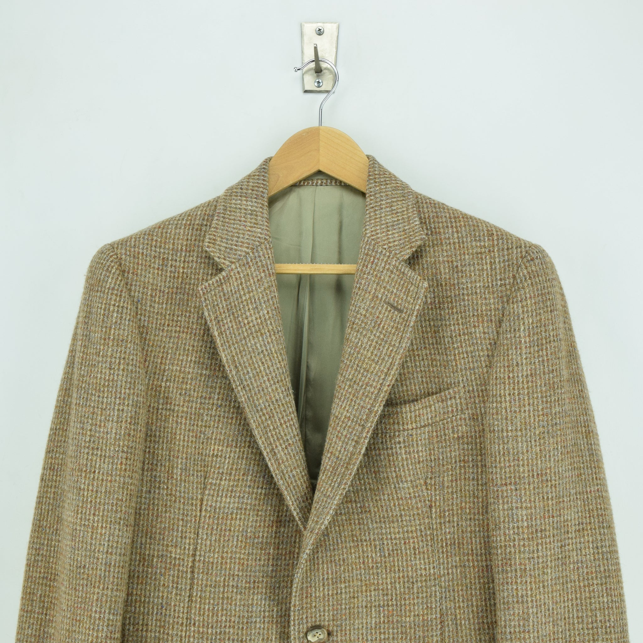 Vintage Harris Tweed Tailored in USA Brown Sports Jacket Country Blazer 38 chest