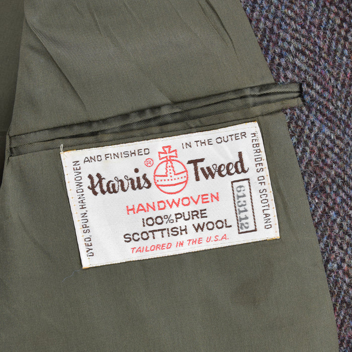 Vintage Harris Tweed Tailored by Stafford USA Sports Jacket Country Blazer 38 internal pocket label