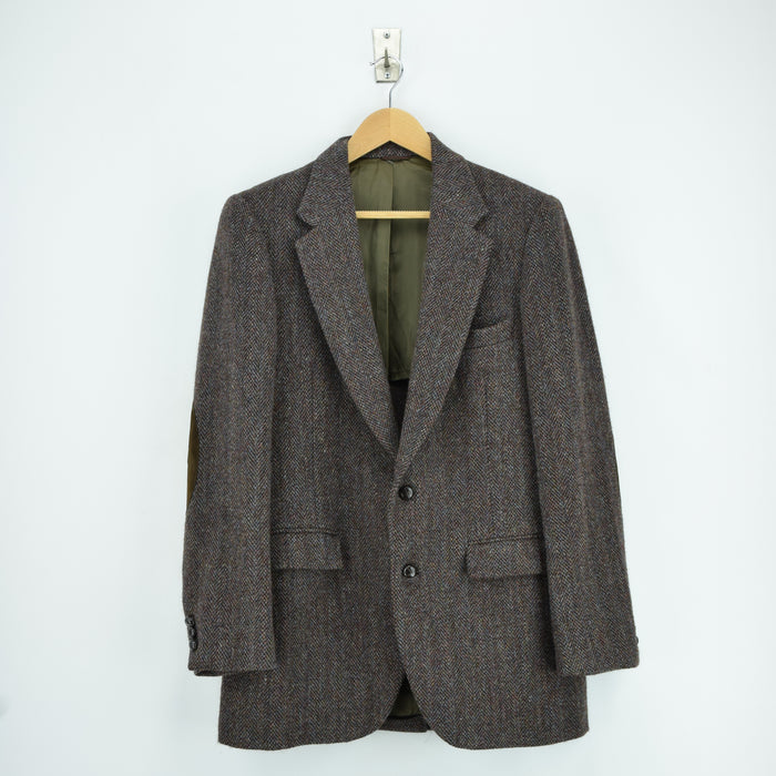 Vintage Harris Tweed Tailored by Stafford USA Sports Jacket Country Blazer 38 front