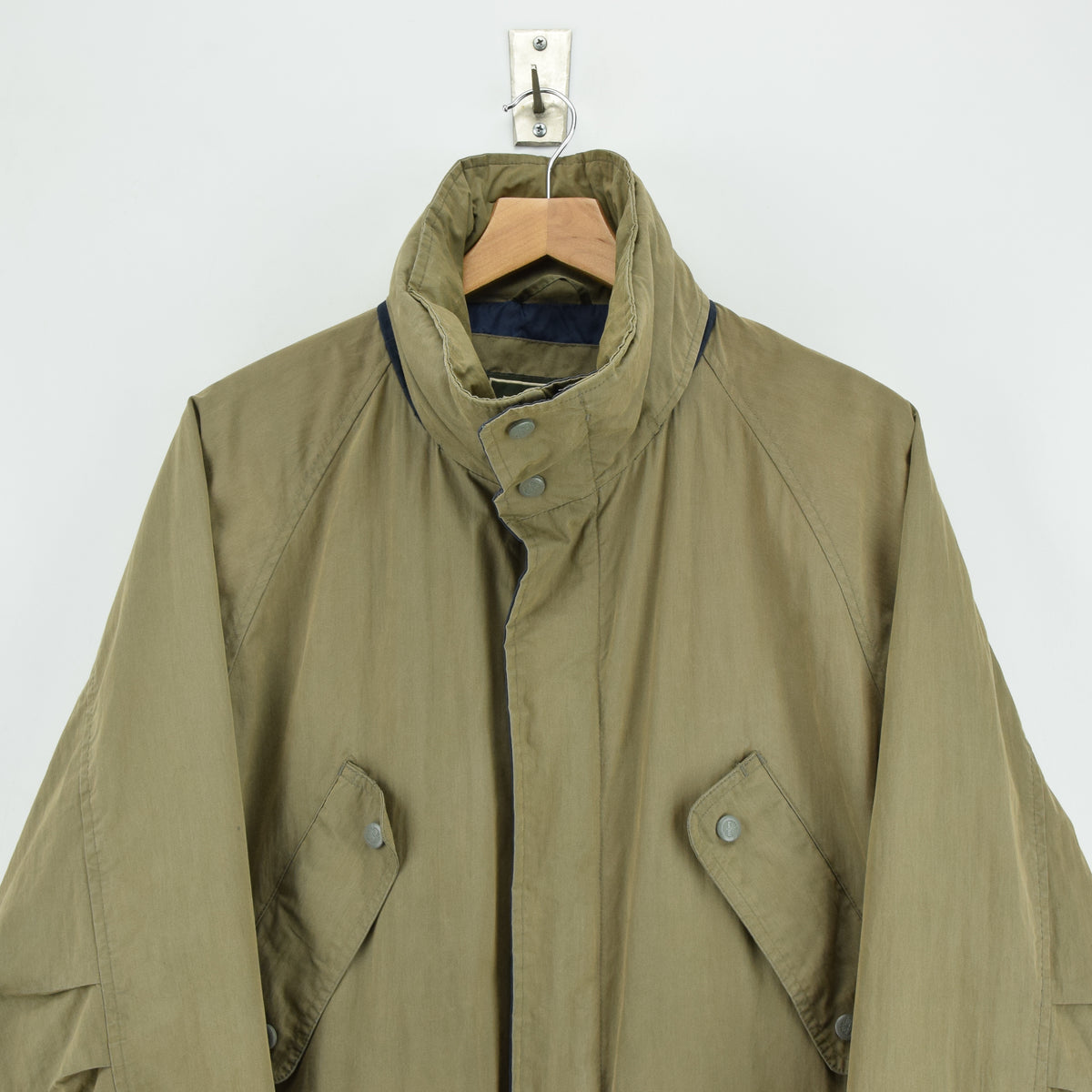 Vintage Timberland Olive Green Coat Jacket with Concealed Hood XS chest