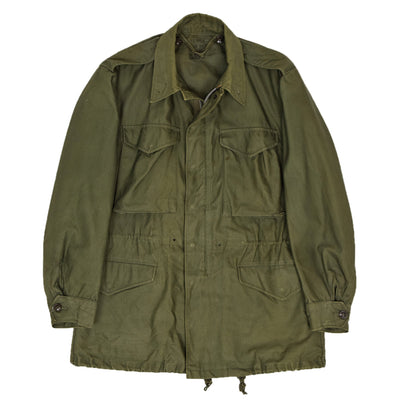 Vintage 50s M-1951 Korean War US Army Field Jacket OG-107 Olive Green S front