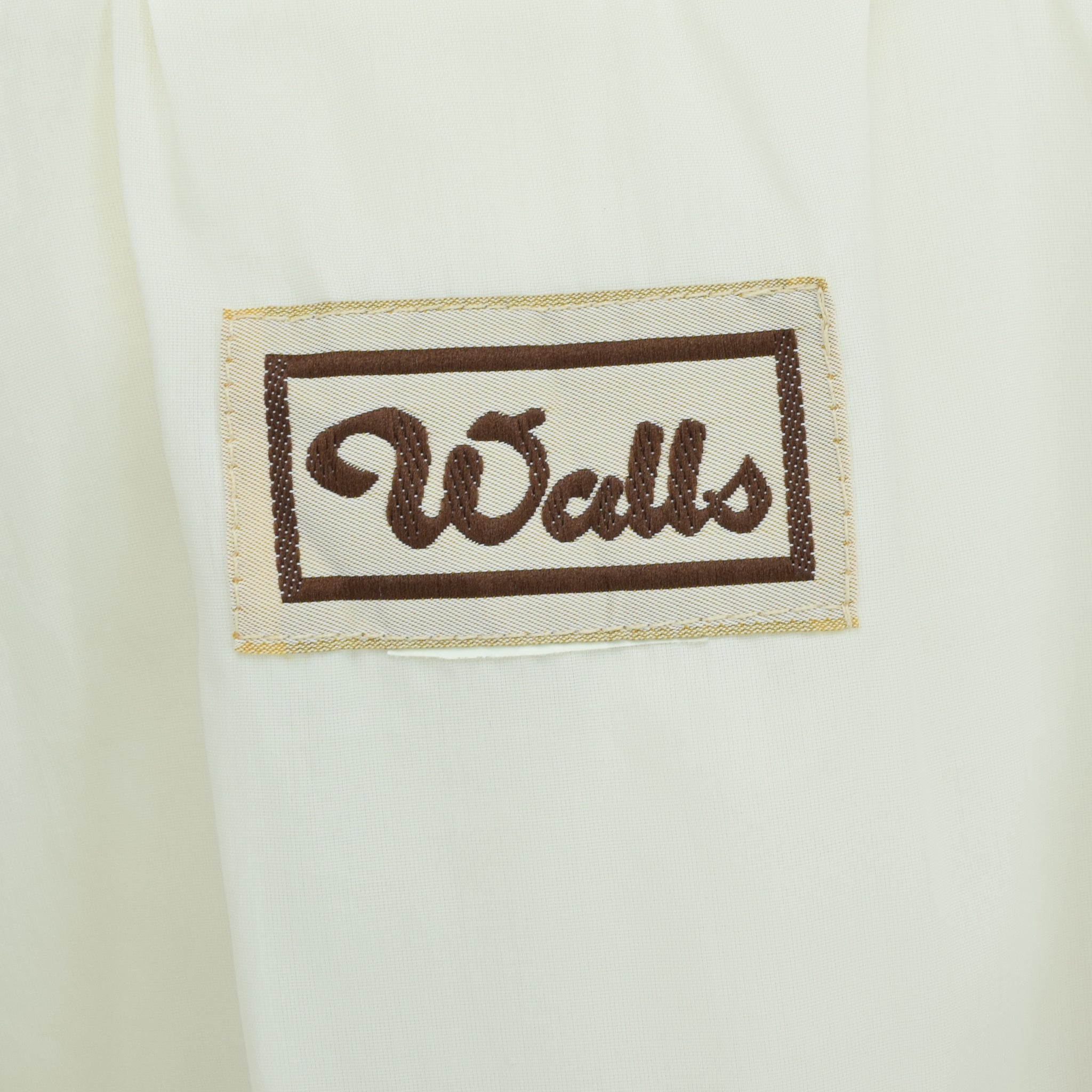 Vintage Walls Western Style Off White Cotton Canvas Bomber Jacket M label