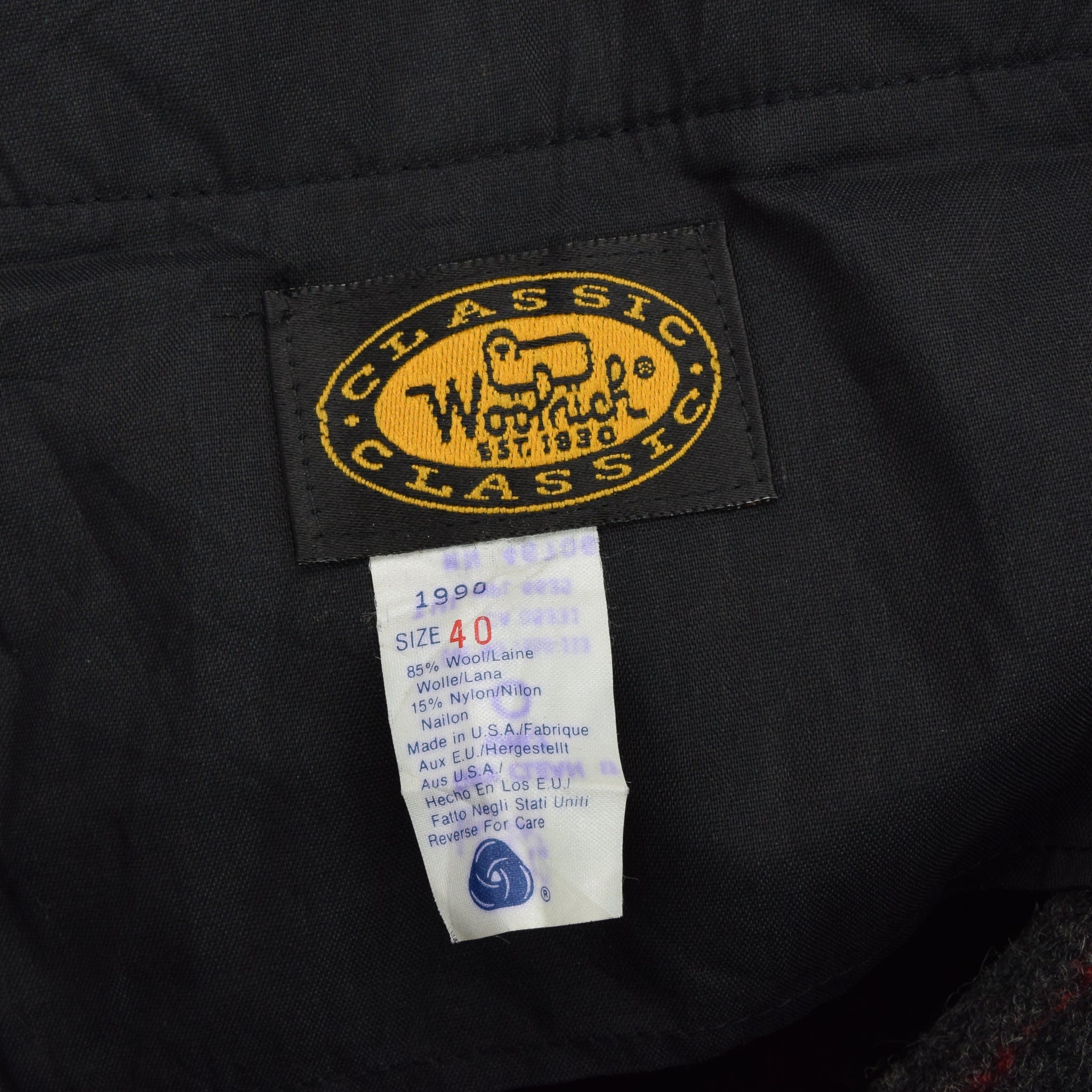 8d442588063fa ... Vintage Woolrich Wool Plaid Hunting Pants Trousers Made in USA 38 W 27  L label ...