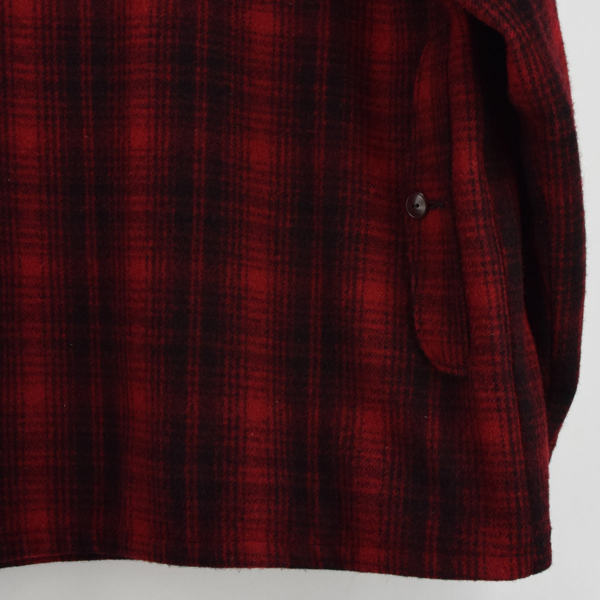Vintage 70s Woolrich Buffalo Plaid Mackinaw Hunting Cruiser Jacket Made in USA L back hem