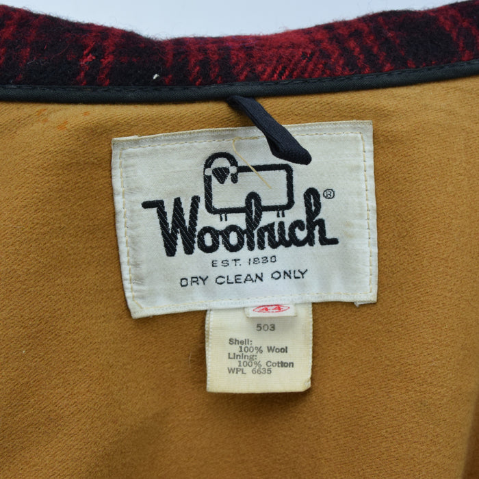 Vintage 70s Woolrich Buffalo Plaid Mackinaw Hunting Cruiser Jacket Made in USA L label