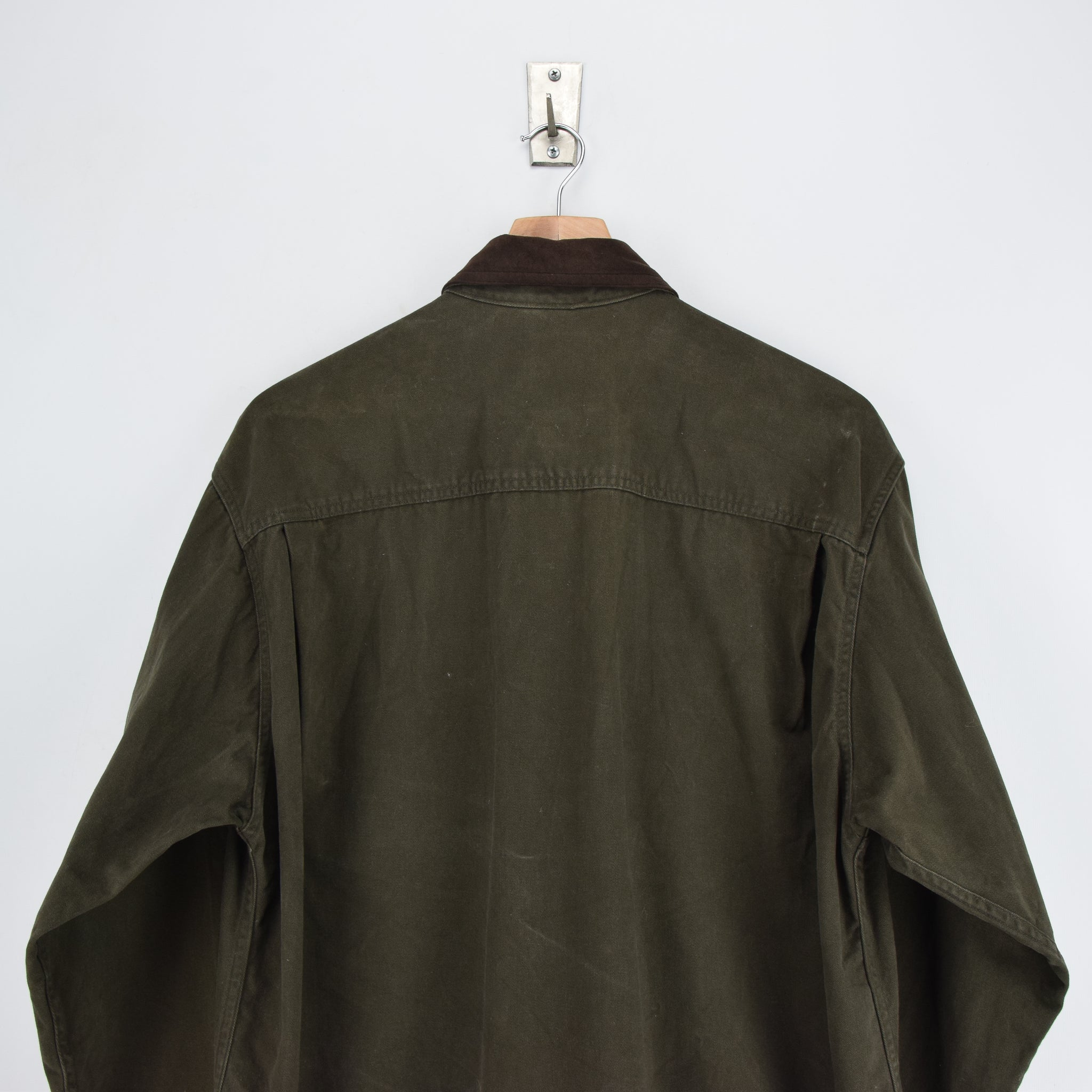 Vintage Woolrich Dark Green CPO Style Cotton Field Shirt L shoulders