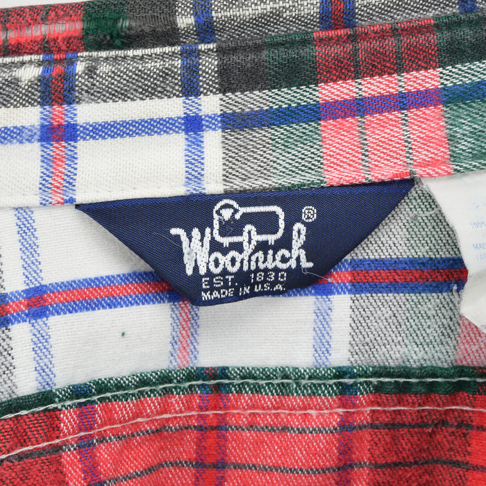 Vintage Woolrich Red Green Check CPO Style Cotton Field Shirt Made in USA S label
