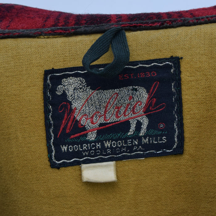 Vintage 50s Woolrich Woolen Mills Buffalo Plaid Mackinaw Hunting Jacket M label