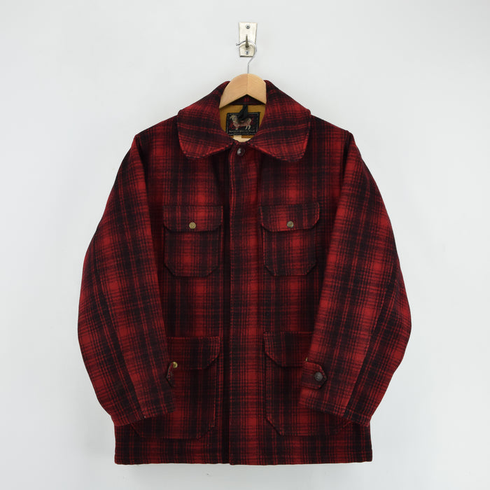 Vintage 50s Woolrich Woolen Mills Buffalo Plaid Mackinaw Hunting Jacket M front