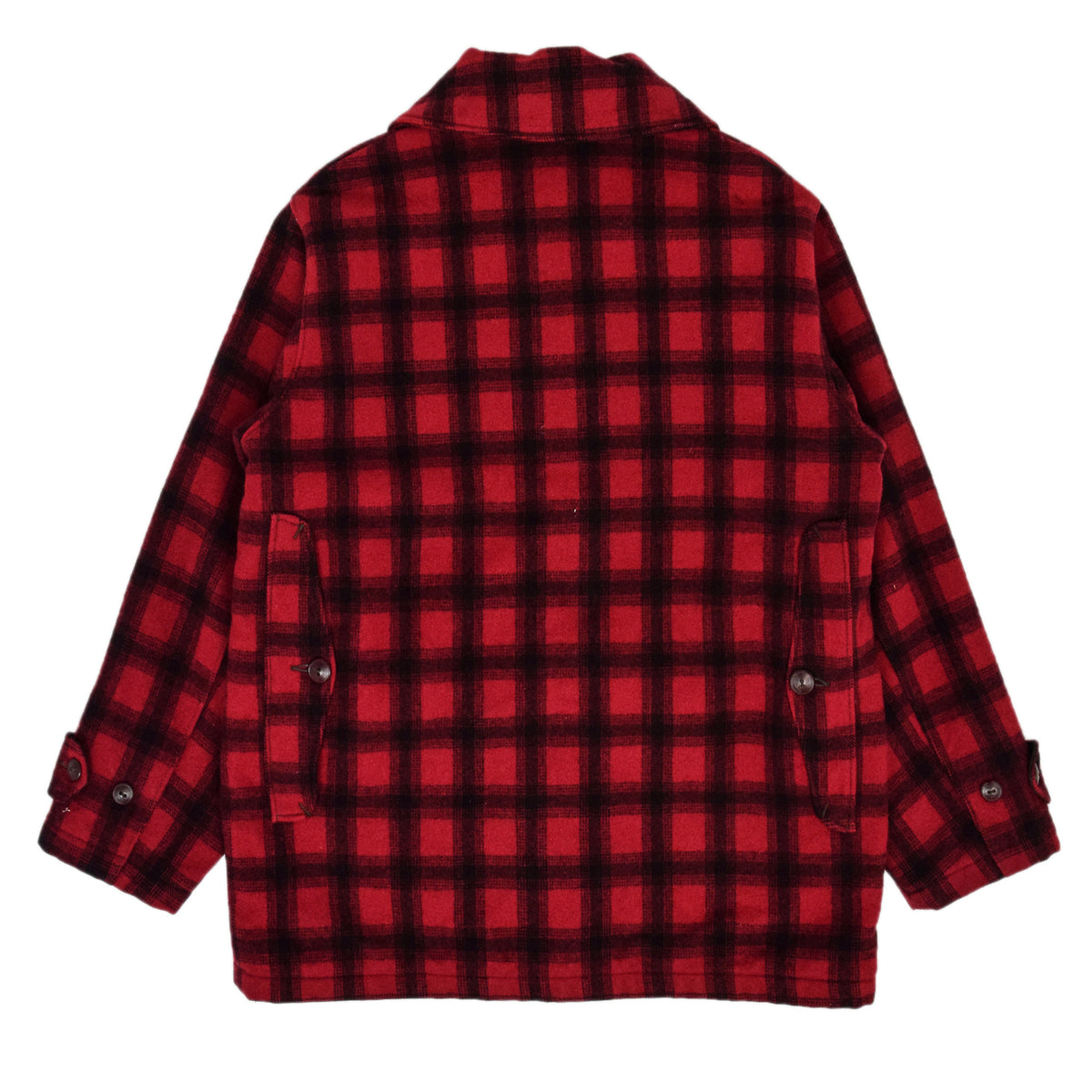 Vintage 70s Woolrich Woolen Mills Buffalo Plaid Mackinaw Hunting Jacket M back